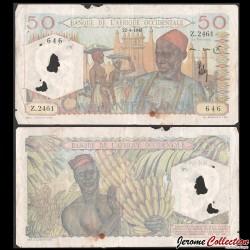 AFRIQUE OCCIDENTALE FRANÇAISE - Billet de 50 Francs - 22.4.1948 P39a.4