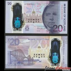 ECOSSE / Bank of Scotland - Billet de 20 Pounds - Ancien pont du Forth - 2019 P132a