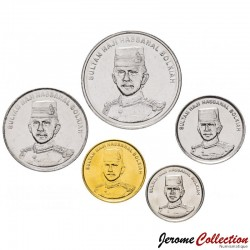 BRUNEI - SET / LOT de 5 PIECES de 1 5 10 20 50 Sen - 2008 2010 2011 Km#34b 35 36 37 38