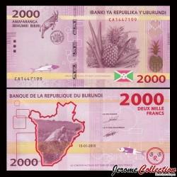 BURUNDI - Billet de 2000 Francs - 2015 P52a
