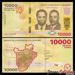 BURUNDI - Billet de 10000 Francs - 2015 P54a