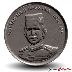 BRUNEI - PIECE de 10 Sen - Hassanal Bolkiah I - 2005 Km#36