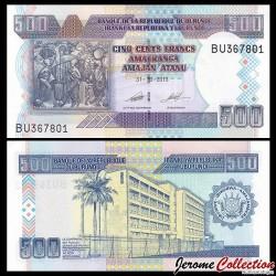 BURUNDI - Billet de 500 Francs - 2013