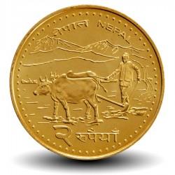 NEPAL - PIECE de 2 Roupies - Agriculteur - 2009 - २०६६ Km#1188