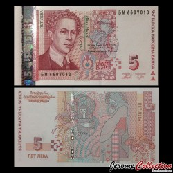 BULGARIE - Billet de 5 Leva - 2009