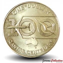 AUSTRALIE - PIECE de 1 Dollar - Centenaire de la Cie aérienne Qantas - 2020 Km#new