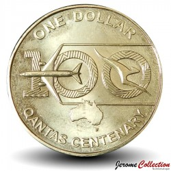 AUSTRALIE - PIECE de 1 Dollar - Centenaire de la Cie aérienne Qantas - 2020