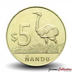 URUGUAY - PIECE de 5 Pesos - Nandu (Autruche Africaine) - 2014 Km#137