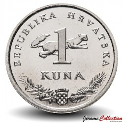 CROATIE - PIECE de 1 Kuna - 20 ans de la kuna - Rossignol - 2014