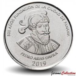 PANAMA - PIECE de ½ Balboa (500 ans de fondation de la ville de Panama) - 2019 Km#new