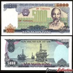 VIETNAM - Billet de 5000 Dong - 1987 P104a