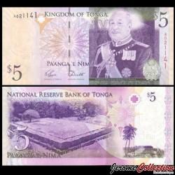 TONGA - Billet de 5 Pa'anga - Tombes royales - 2009 P39a