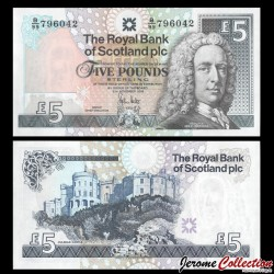 ECOSSE - Royal Bank of Scotland - Billet de 5 Pounds - Lord Ilay - 2008