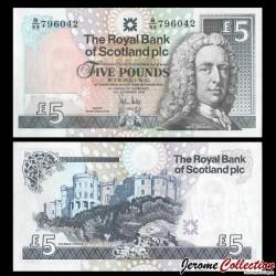 ECOSSE - Royal Bank of Scotland - Billet de 5 Pounds - Lord Ilay - 2008 P0352e1