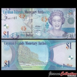 CAIMANS (ILES) - Billet de 1 DOLLAR - Elizabeth II, Poissons Tropicaux - 2014