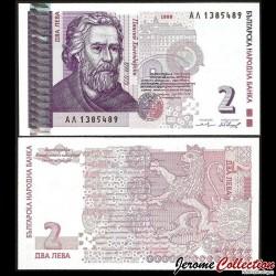 BULGARIE - Billet de 2 Leva - 1999