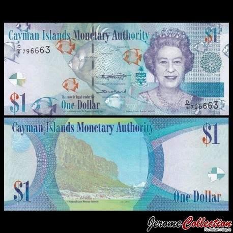 CAIMANS (ILES) - Billet de 1 DOLLAR - Elizabeth II, Poissons Tropicaux - 2018 P38e