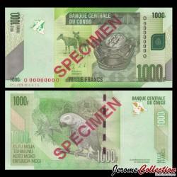 CONGO - BILLET de 1000 Francs - Perroquet - SPECIMEN - 2013