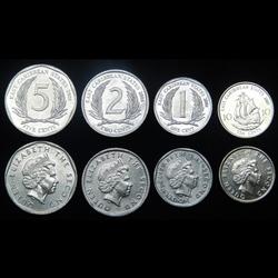 CARAIBES ORIENTALES - SET de 4 PIECES - 1 2 5 10 CENTS - 2004 2007 2008