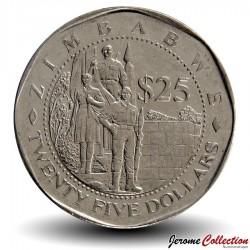 ZIMBABWE - PIECE de 25 Cents - Groupe de Soldats - 2003