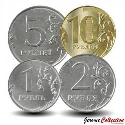 RUSSIE - SET / LOT de 4 PIECES de 1 2 5 10 Roubles - 2019 Y#new