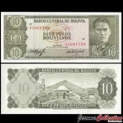 BOLIVIE - Billet de 10 Pesos Bolivianos - 1962 P154a16