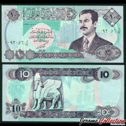 IRAK - Billet de 10 Dinars - Saddam Hussein - 1992