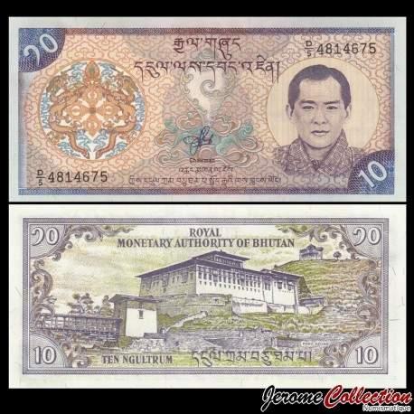 BHOUTAN - Billet de 10 Ngultrum - Jigme Singye Wangchuck - 2000 P22a