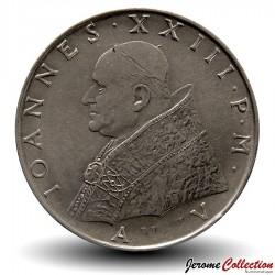 VATICAN - PIECE de 100 Lires - Fides (La foi) - Jean XXIII - 1962