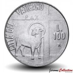 VATICAN - PIECE de 100 Lires - Année de la Paix - 1984 Km#180