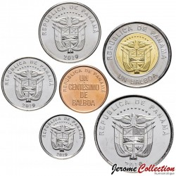 PANAMA - SET / LOT de 6 PIECES de 1 5 Centésimo 1/10 1/4 1/2 1 Balboa - 2019