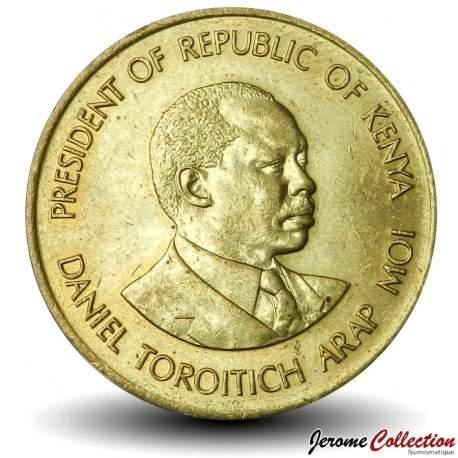 KENYA - PIECE de 5 Cents - Président Arap Moi - 1991 Km#17