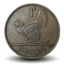 IRLANDE - PIECE de 1 Pingin - Poule et poussins - 1942