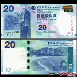 HONG KONG - Bank Of China (Hong Kong) Ltd - Billet de 20 DOLLARS - 2010 P341a