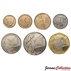 SEYCHELLES - SET / LOT de 6 PIECES - 1 5 10 25 Cents 1 5 10 Rupees - 2016 Km#new