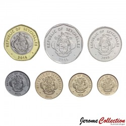 SEYCHELLES - SET / LOT de 6 PIECES - 1 5 10 25 Cents 1 5 10 Rupees - 2016