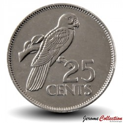 SEYCHELLES - PIECE de 25 Cents - Perroquet - 2012 Km#49a