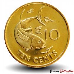 SEYCHELLES - PIECE de 10 Cents - Thon jaune - 2007 Km#48a