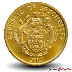 SEYCHELLES - PIECE de 10 Cents - Thon jaune - 2007