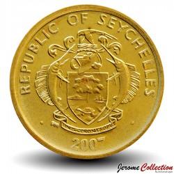 SEYCHELLES - PIECE de 5 Cents - Arbre à Manioc - 2010