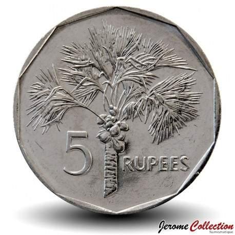 SEYCHELLES - PIECE de 5 Rupees - Palmier - 2010 Km#51.3