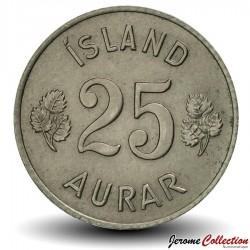 ISLANDE - PIECE de 25 Aurar - 1967 Km#11