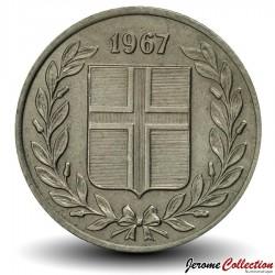 ISLANDE - PIECE de 25 Aurar - 1967