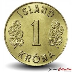 ISLANDE - PIECE de 1 Krona - 1974 Km#12a