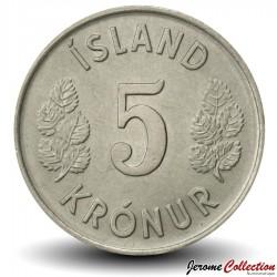 ISLANDE - PIECE de 5 Kronur - 1974 Km#18
