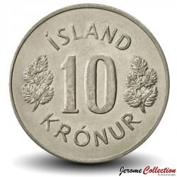 ISLANDE - PIECE de 10 Kronur - 1975 Km#15