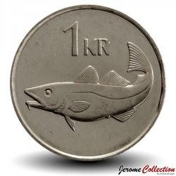 ISLANDE - PIECE de 1 Krona - Cabillaud - 1999 Km#27a