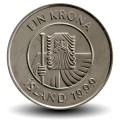 ISLANDE - PIECE de 1 Krona - Cabillaud - 1999