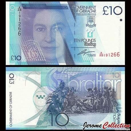 GIBRALTAR - Billet de 10 Livres Sterling - 2010 P36a