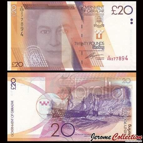 GIBRALTAR - Billet de 20 Livres Sterling - 2011 P37a